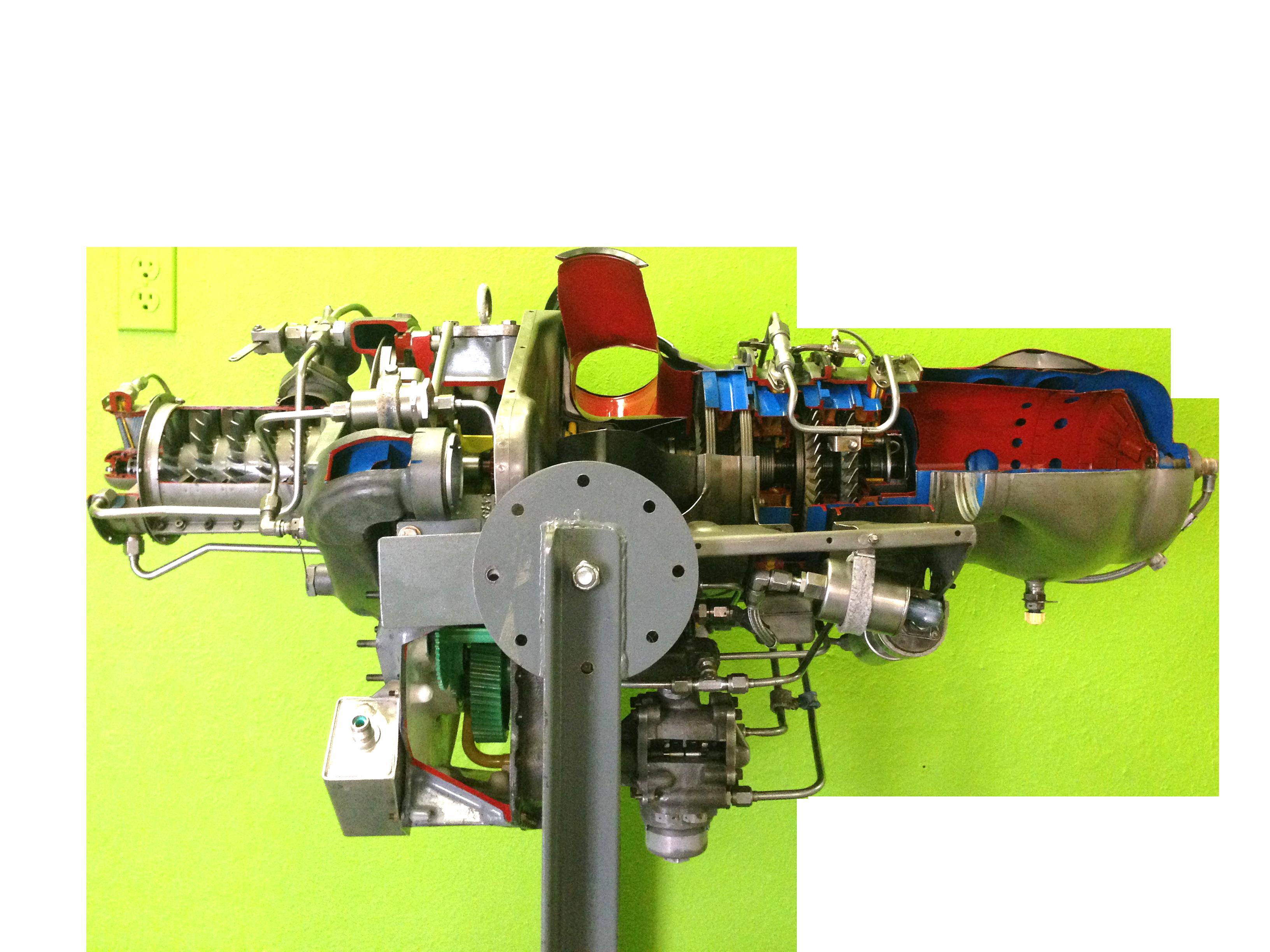 AE-04-250 Cutaway Turboshaft Model