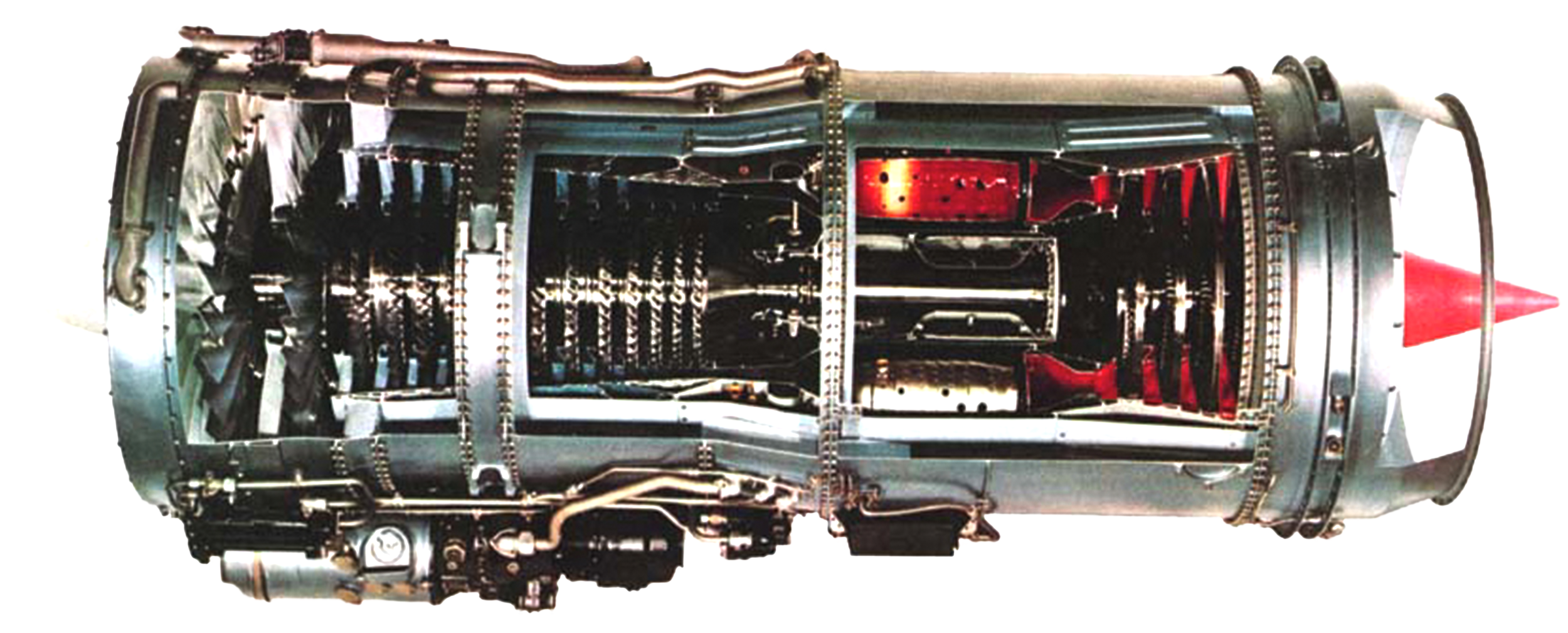 AE-06-JT8 Turbofan Engine JT8D Cutaway