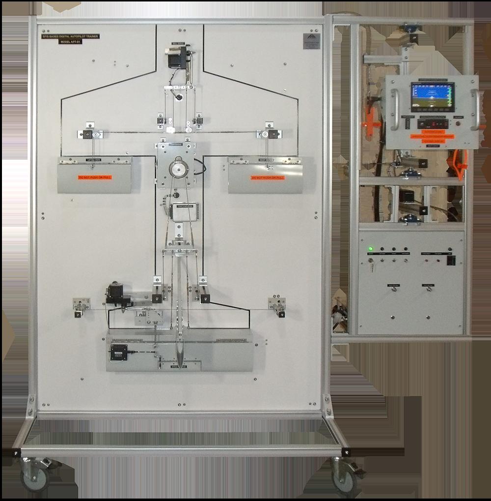 Двух осевая цифровая тренировочная модель для работы с автопилотом APT-01